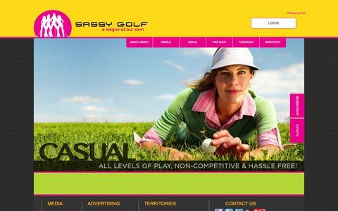 Screenshot of Home Page sassygolf.net - Home | Sassy Golf - captured Oct. 4, 2014