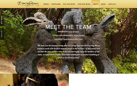 Screenshot of About Page dancinghares.com - About   Dancing Hares Vineyard - captured Oct. 5, 2014
