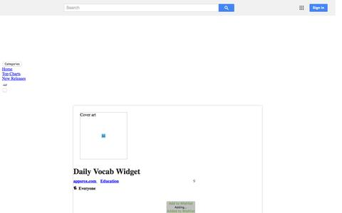 Screenshot of Android App Page google.com - Daily Vocab Widget - Android Apps on Google Play - captured Nov. 26, 2015