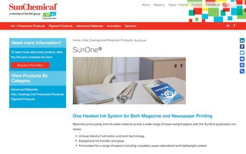 SunOne® | Sun Chemical