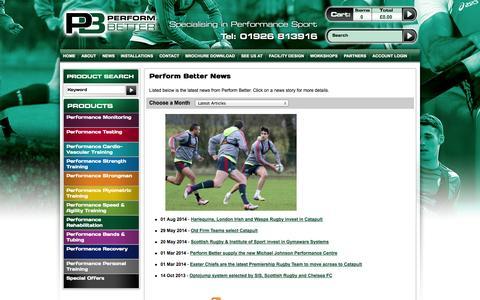 Screenshot of Press Page performbetter.co.uk - Perform Better News - captured Sept. 19, 2014