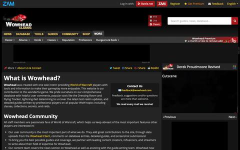 Screenshot of About Page wowhead.com - What is Wowhead? - Wowhead - captured Nov. 17, 2018