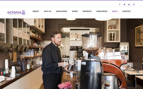 Screenshot of Blog octopus.jobs - Blog – Octopus Jobs – Hospitality - captured Oct. 19, 2018