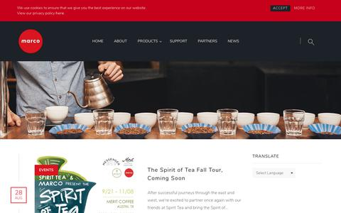 Screenshot of Press Page marcobeveragesystems.com - Blog - Marco Beverage Systems Ltd. - captured Sept. 20, 2018