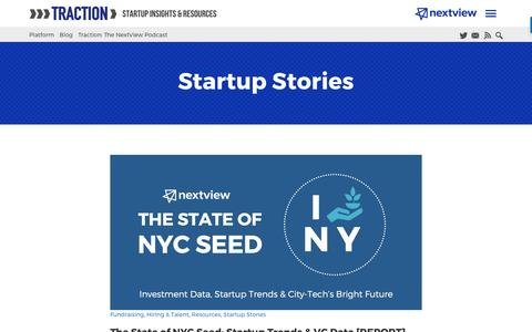 Screenshot of Blog nextviewventures.com - Startup Stories Archives - Page 4 of 7 - NextView Ventures - captured April 17, 2017