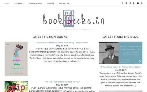 Screenshot of Home Page bookgeeks.in - Book Reviews | Author Interviews | bookGeeks India - captured June 2, 2017