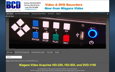 Screenshot of Home Page bcdusa.com - Full-HD Recorders - HDMI Digital Recorders - BCD Associates - captured Oct. 4, 2018