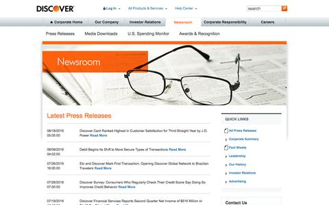 Discover Newsroom Latest Press Releases | Discover