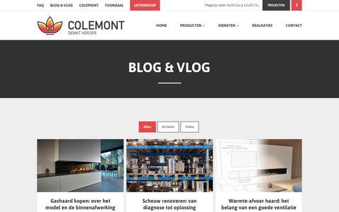 Screenshot of Blog colemont.be - Blog & Vlog - Colemont - captured Sept. 24, 2018