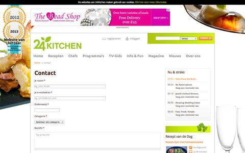 Screenshot of Contact Page 24kitchen.nl - Contact | 24Kitchen - captured Oct. 27, 2014