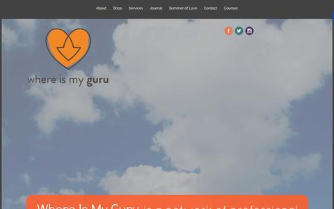 Screenshot of Home Page whereismyguru.com - Where Is My Guru | Leading You Back To You - captured Aug. 13, 2015