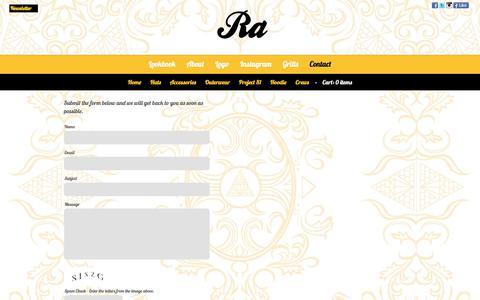 Screenshot of Contact Page ra-clothing.com - Contact | Ra Clothing Co. - captured June 18, 2017