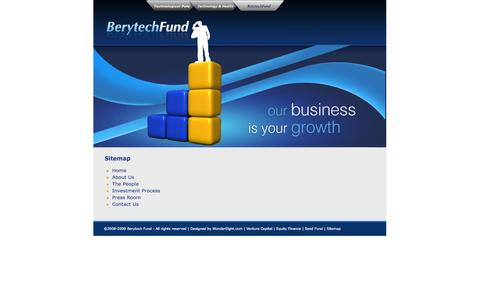 Screenshot of Site Map Page berytechfund.org - Welcome to Berytech Fund | Equity Financing | Venture Capital | Seed Fund | Beirut | Lebanon - Sitemap - captured Oct. 5, 2014