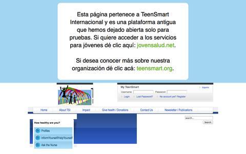Screenshot of Case Studies Page teensmart.net - TeenSmart.net - Case Studies - captured Oct. 7, 2014