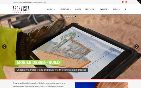 Screenshot of Home Page archvista.com - ARCHVISTA | Unleash Creativity with a Smart Practice - captured Feb. 5, 2016