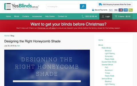 Screenshot of Blog yesblinds.com.au - Blog | Yes Blinds - captured Nov. 17, 2016