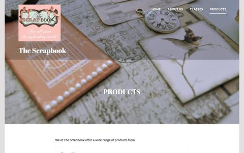 Screenshot of Products Page thescrapbook.co.za - Products | The Scrapbook - captured Jan. 11, 2016