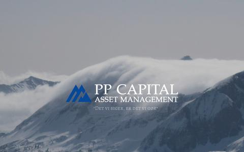 Screenshot of Home Page pp-capital.dk - PP Capital – Asset Management - captured Sept. 25, 2018
