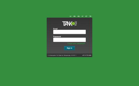 Screenshot of Login Page tank-you.lv - Tank-you v2.0 - captured Sept. 29, 2017