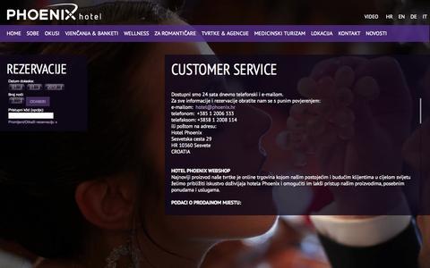 Screenshot of Support Page hotelphoenix.hr - CUSTOMER SERVICE - Hotel Phoenix - captured Oct. 1, 2014