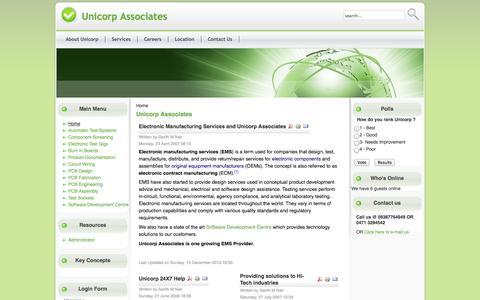 Screenshot of Home Page unicorpindia.com - Unicorp Associates - captured Oct. 7, 2014
