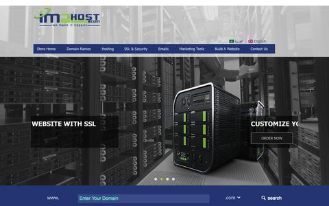 Screenshot of Home Page im2host.com - IM2Host | Professional Web Hosting Provider - captured Aug. 31, 2015