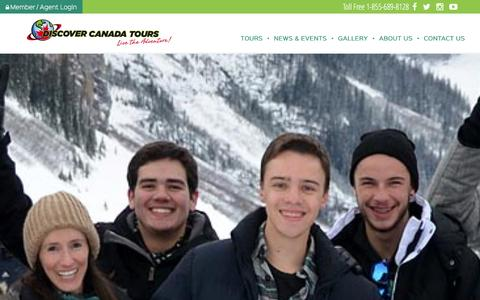 Screenshot of About Page discovercanadatours.com - About Us   Discover Canada Tours - captured Jan. 29, 2016