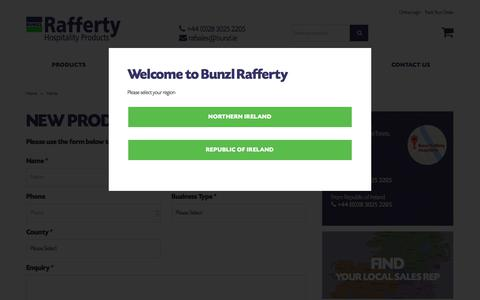 Screenshot of Contact Page raffertyhospitality.com - Hospitality Suppliers Throughout Ireland | Bunzl Raf... - captured Oct. 11, 2017