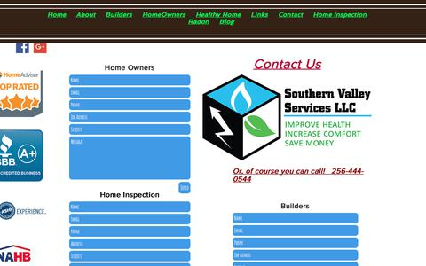 Screenshot of Contact Page southernvalleyservices.com - Contacts | information | Southern Valley Services - captured Oct. 23, 2017