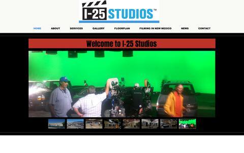 Screenshot of Home Page i-25studios.com - i-25studios - captured July 24, 2018