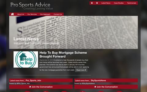 Screenshot of Press Page prosportsadvice.co.uk - Latest News - Pro Sports Advice : Pro Sports Advice - captured Dec. 12, 2015