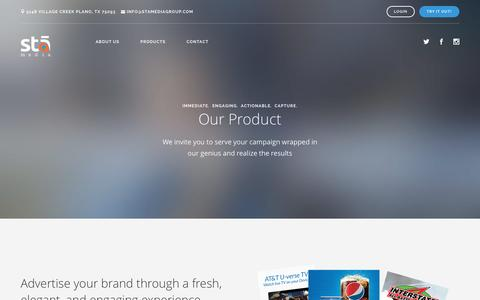 Screenshot of Products Page stamediagroup.com - Stā | Product - captured Jan. 31, 2016