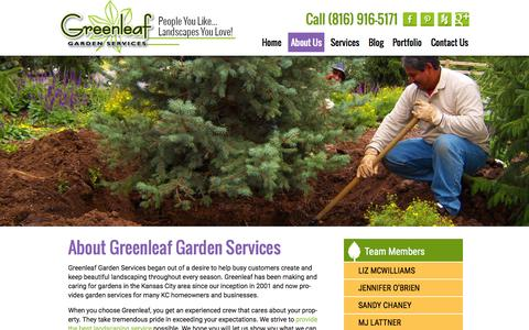 Screenshot of About Page greenleafkc.com - About Us | Greenleaf Garden Services - captured Sept. 26, 2015