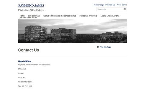 Contact Us | Raymond James Investments Services
