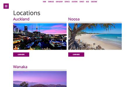 Screenshot of Locations Page phancybox.com - NZ Web Design Australia Locations Phancybox Noosa Auckland - captured Oct. 23, 2018