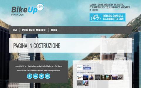 Screenshot of Signup Page bikeup.it - BikeUp - in costruzione - captured Sept. 30, 2014