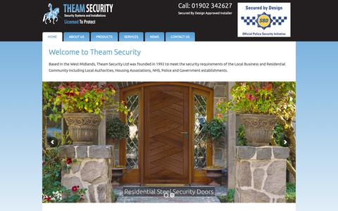 Screenshot of Home Page theamsecurity.com - Security Doors, Commerical Security Doors, Security Windows - captured Oct. 20, 2018