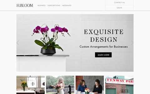 H.BLOOM:  	Subscription Flower Delivery Service