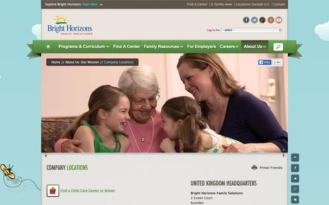 Screenshot of Locations Page brighthorizons.com - Corporate Locations & Child Care Centers | Bright Horizons¨ - captured Jan. 7, 2016