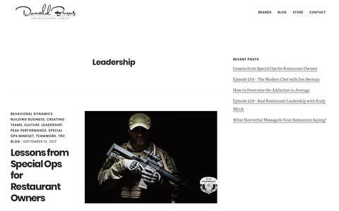 Screenshot of Team Page donaldburns.net - Leadership — Donald Burns - captured Oct. 23, 2017