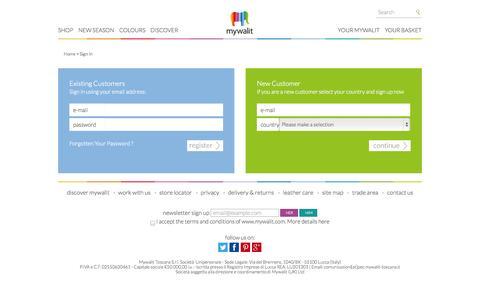 Screenshot of Login Page mywalit.com captured Oct. 26, 2014