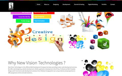 Screenshot of Home Page newvisiontech.net - Web Development Islamabad | Web Development Pakistan | SEO Services - captured Oct. 20, 2018