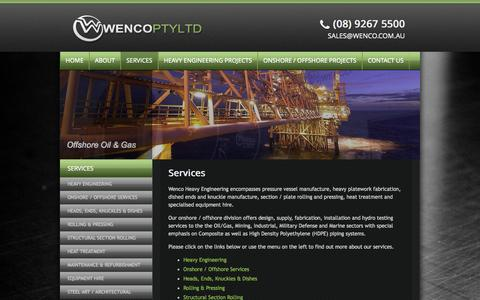Screenshot of Services Page wenco.com.au - Wenco Services - captured Oct. 26, 2014