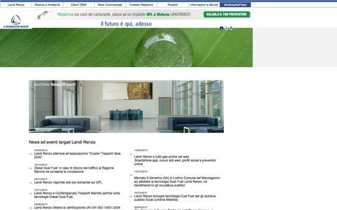 Screenshot of Press Page landi.it - News ed eventi targati Landi Renzo - captured Sept. 23, 2014