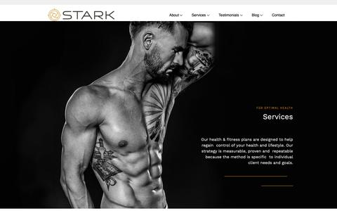 Screenshot of Services Page starklife.us - Personal Training at Stark - captured Oct. 20, 2018