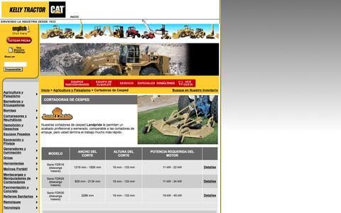 Screenshot of Landing Page kellytractor.com - Kelly Tractor Cortadoras de Cesped - Cortadoras de Hierba - Cortadoras de Pasto - captured Aug. 12, 2016