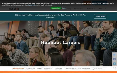 Screenshot of Jobs Page hubspot.com - HubSpot Careers - captured Nov. 5, 2019