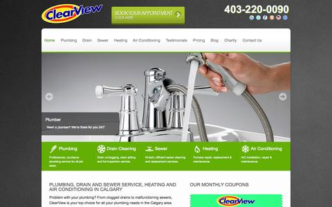 Calgary's Highest Rated Plumber | ClearView Plumbing, Heating & Furnaces Calgary