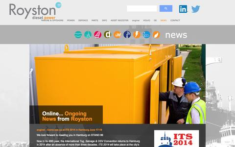 Screenshot of Press Page royston.co.uk - Royston - captured Sept. 30, 2014
