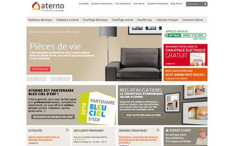Screenshot of Home Page chauffage-aterno.com - Chauffage Economique et Radiateur à inertie   Aterno - captured Sept. 23, 2014